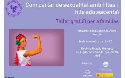 Taller gratuít per a famílies. Com parlar de sexualitat amb filles i fills adolescents?